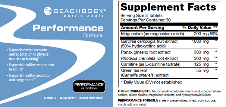 performance formula, nutrition, beachbody