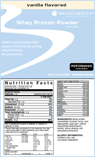 whey protein shake, nutrition beachbody