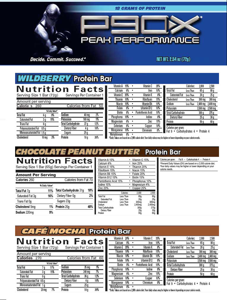 P90x 174 Protein Bars 20 Gr Of Protein Better Than Candy