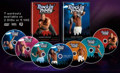 Rockin Body With Shaun T DVD Includes 4 Workouts