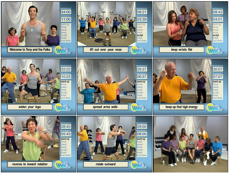 Tony & The Folks, Tony Horton, exercise, old people, Beachbody
